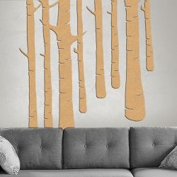 Corkscapes are hand cut cork wall coverings, carved from sheets of cork so you can easily pin things to them as you would with a cork board.