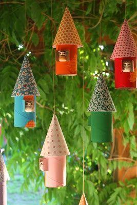 15 usos diferentes para rollos de cartón de decoración reciclada