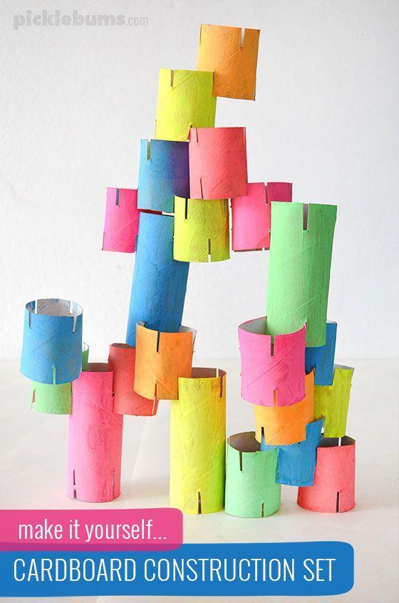 manualidades para niños de primaria con tubos de cartón