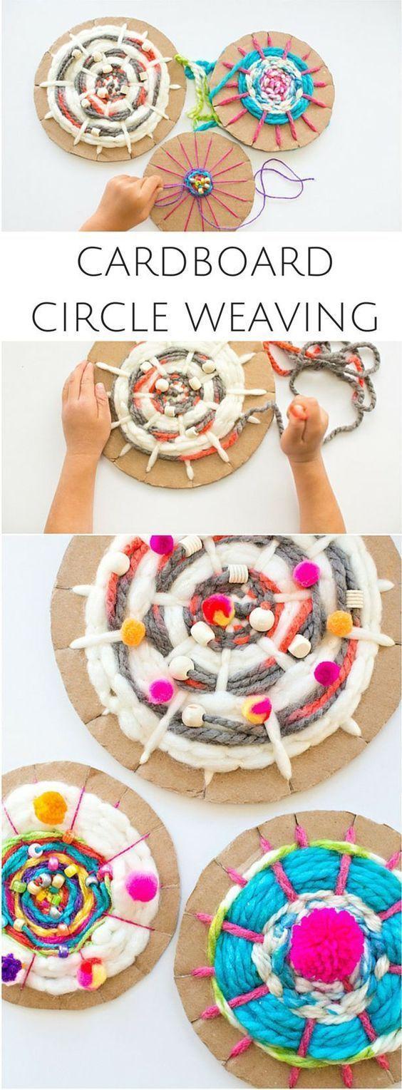Mandalas con cartón reciclad