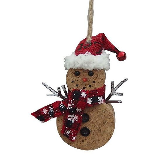 St. Nicholas Square® Snowman Cork Christmas Ornament, Multicolor