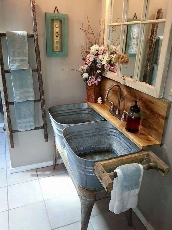 muebles de baño rusticos reciclados