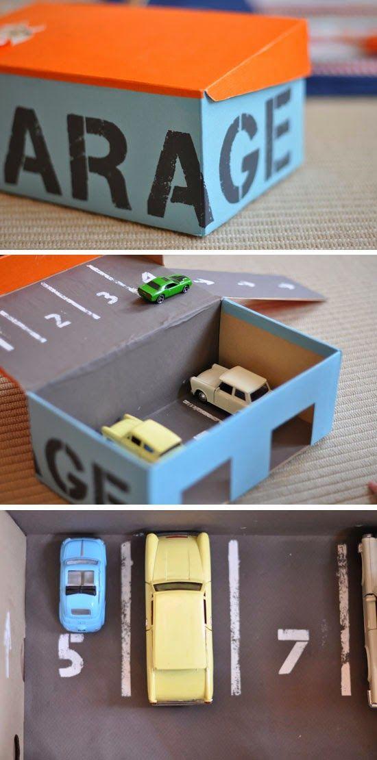 manualidades para niños con cajas de cartón de zapatos