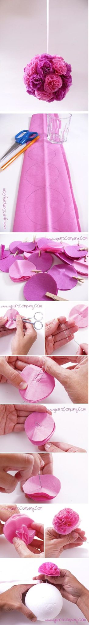 DIY Paper Flower Tutorial - 15 Whimsical DIY Party Decoration Tutorials…: