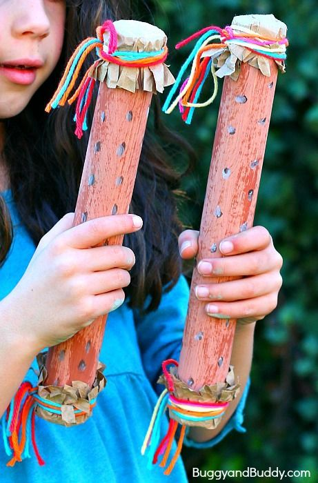 manualidades instrumentos musicales de carton infantiles