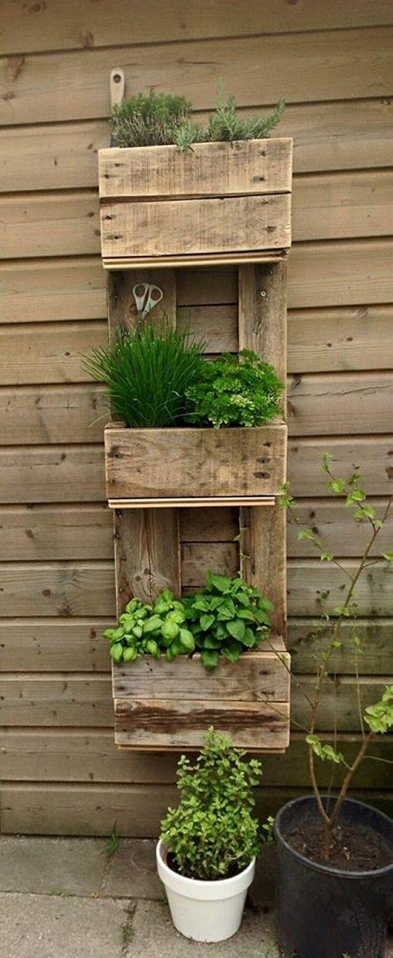 decoración de cajas de madera reciclada