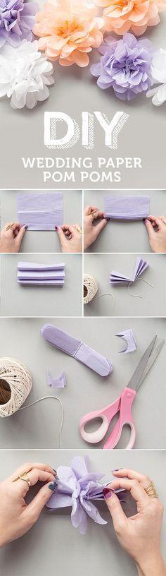 Flores de papel de seda paso a paso para bodas