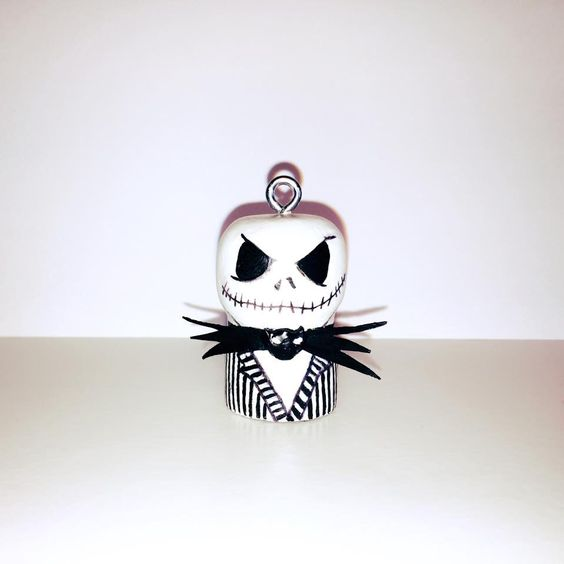 YES we Pink creations - Jack Skellington Cork Doll https://www.facebook.com/yeswepink