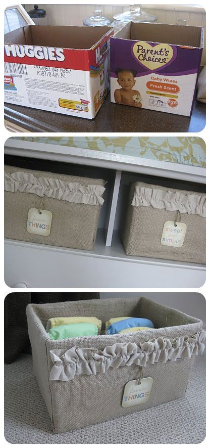 manualidades de cajas de carton organizadoras para el armario