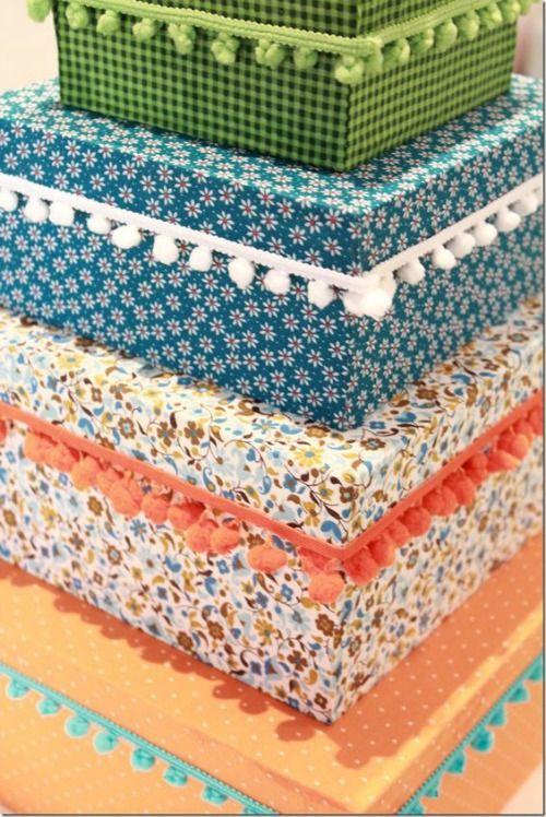 cajas de zapatos de cartón decoradas