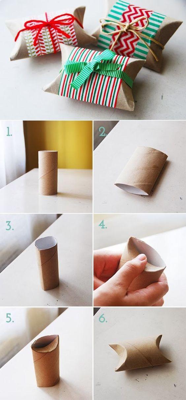 Ideas geniales para hacer manualidades con papel y cartón para envolver regalos