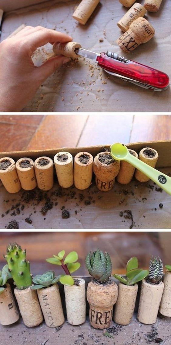 decoración vintage con plantas