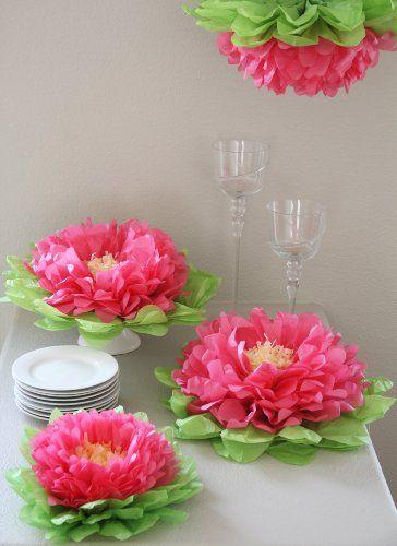Flores de papel de seda para decorar