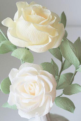 Todas las cosas de papel crepé: Flores de papel - Florece en el Aire: