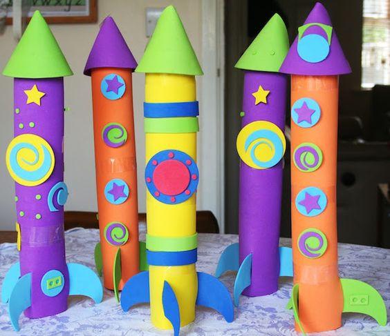 manualidades con tubos de papel higienico para niños