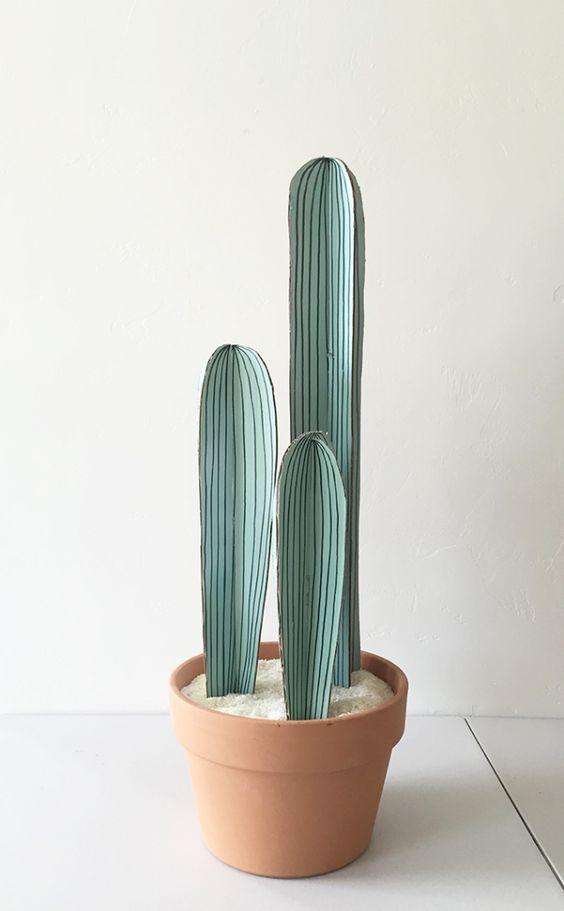 manualidades de cactus de carton para decorar