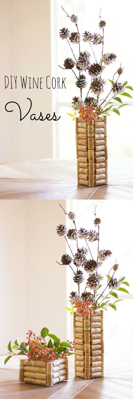 43 More DIY Wine Cork Crafts Ideas http://DIYReady.com | Easy DIY Crafts, Fun Projects, & DIY Craft Ideas For Kids & Adults