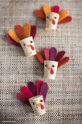 Didi @ Relief Society: Cute Thanksgiving craft for kids ideas! Cork Felt ...
