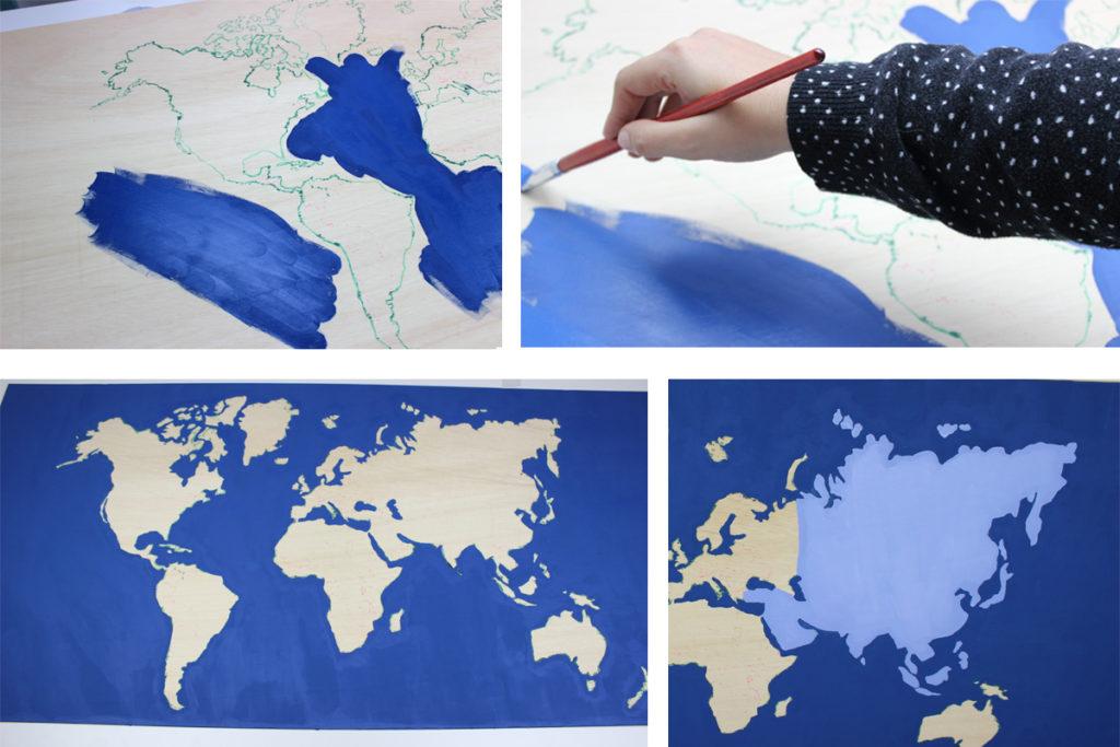 como hacer un mapamundi