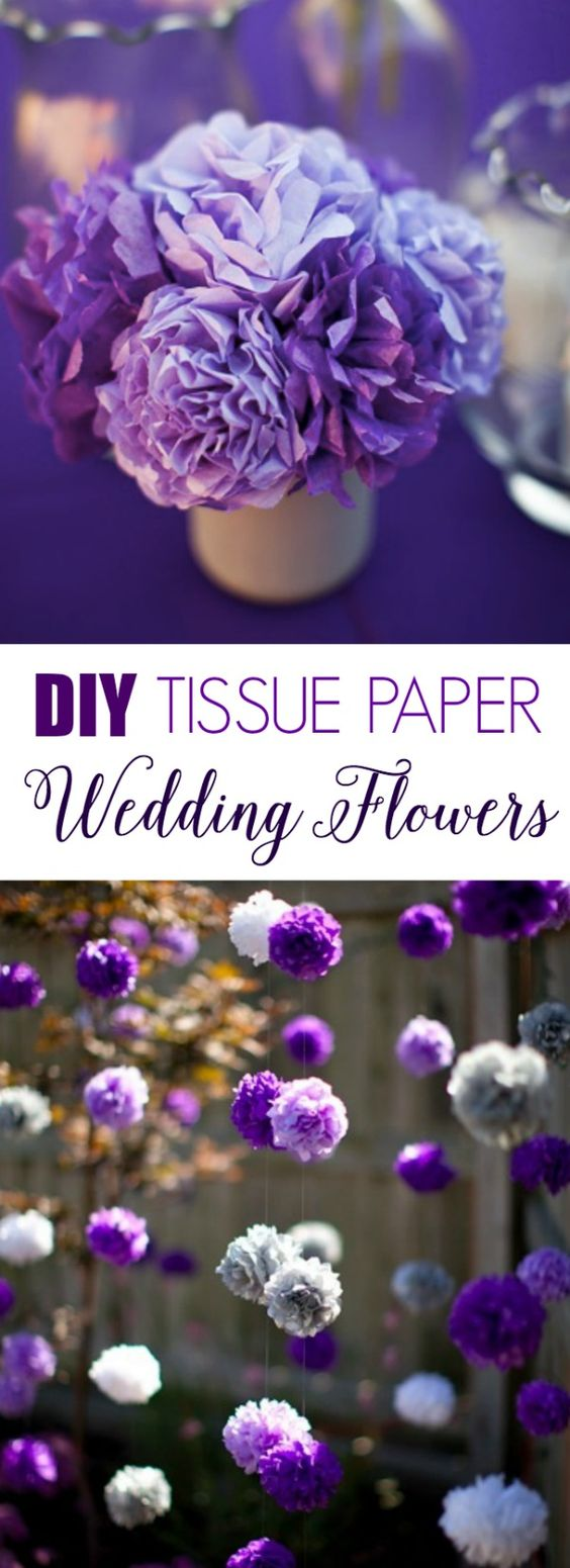 DIY Tissue Paper Wedding Flowers! Instructions and supplies --> http://www.midsouthbride.com/diy-tissue-paper-flowers/: