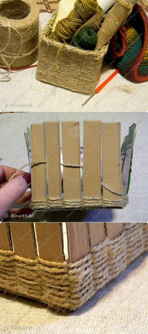 manualidades de cestas de cartón para decoarar
