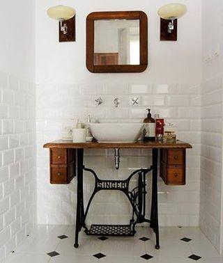 original toque vintage para el baño: