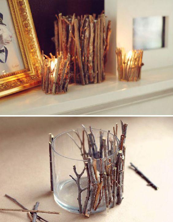 decoraciones recicladas para navidad con elementos naturales