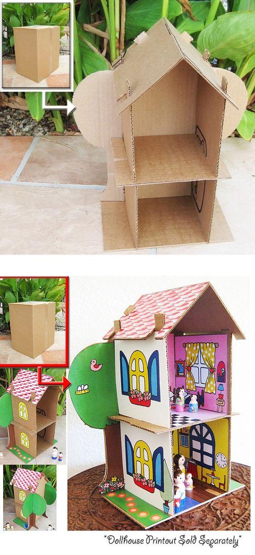35 ideas para hacer una casita de muñecas | Entre Actividades Infantiles: