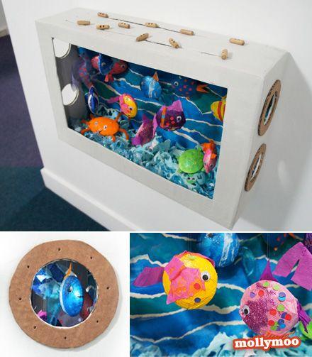 juguete de cartón reciclando cajas de zapatos
