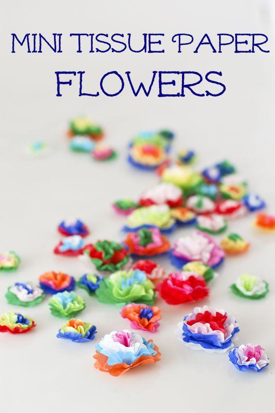 Cómo hacer las flores de papel Tissue Mini