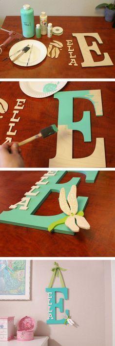 Letras recicladas de madera para decorar habitaciones