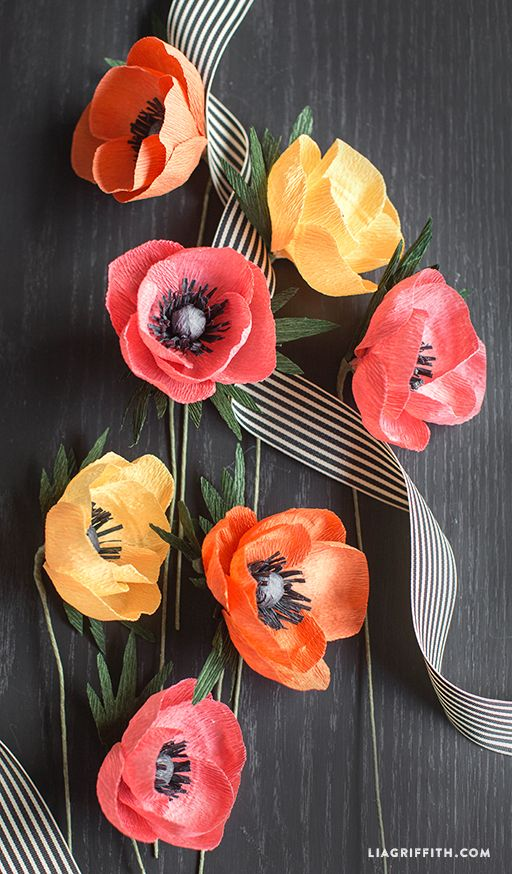 Crepe Paper Anemone Flower: