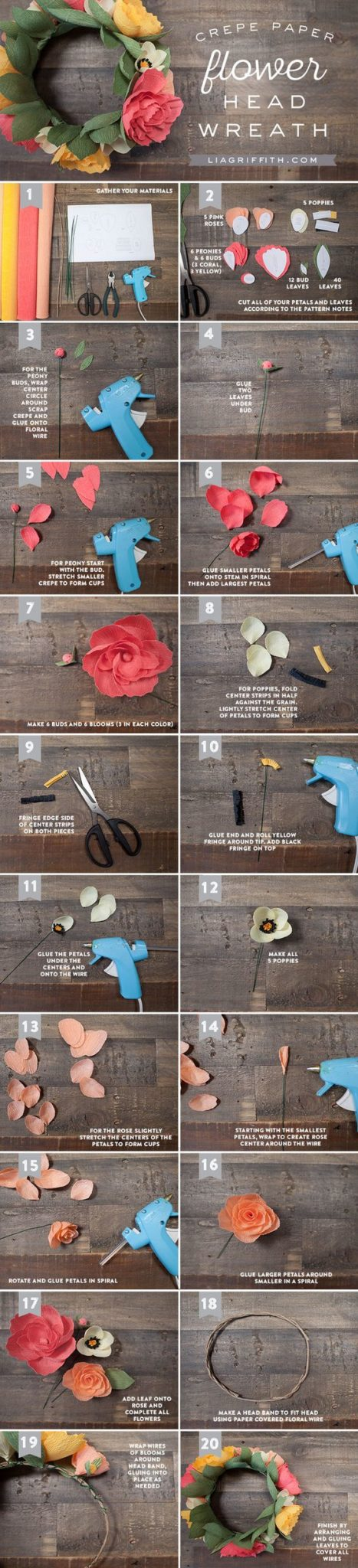 DIY Crepe Paper Flower Head Wreath Pictures, Photos, and Images for Facebook, Tumblr, Pinterest, and Twitter: