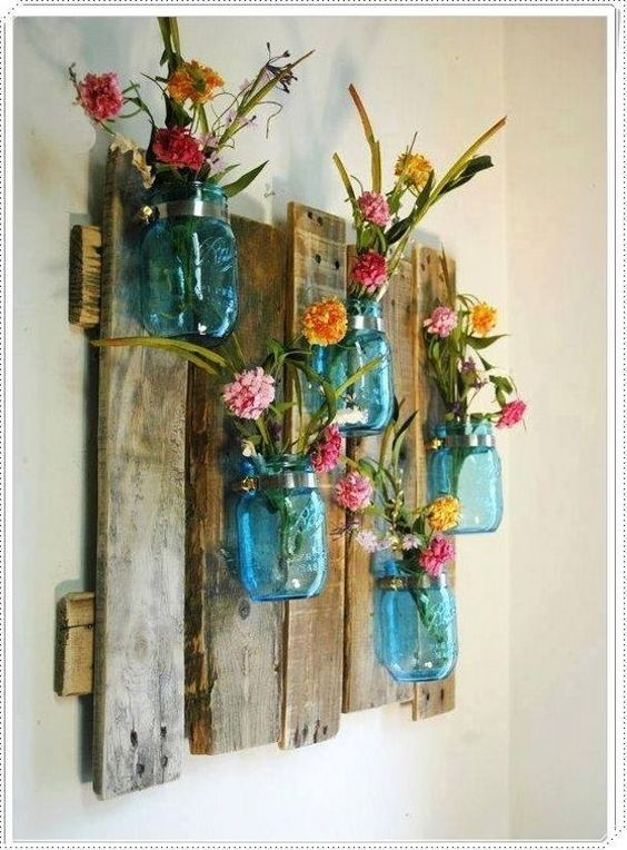 decorar objetos reciclados con pallets