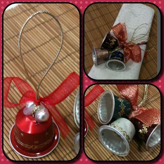 decoraciones recicladas para navidad nespresso