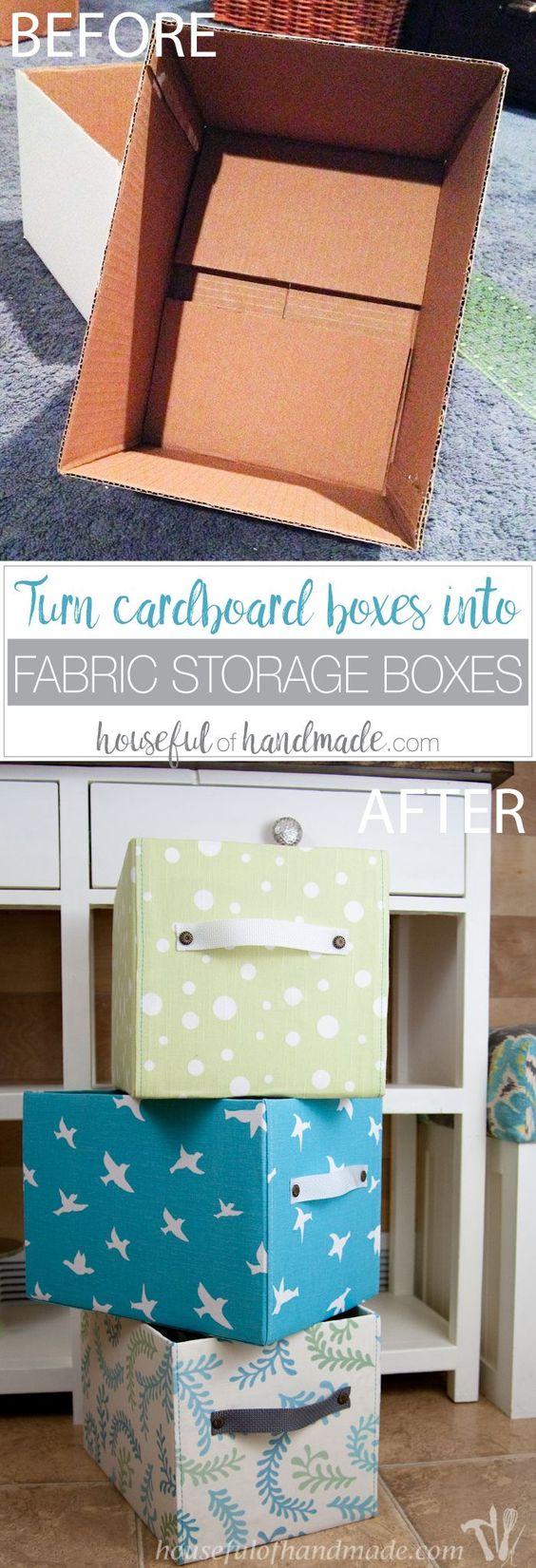 manualidades de cajas de carton para organizar el armario