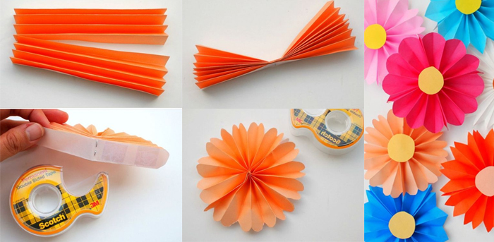 flores de papel muy faciles plegadas