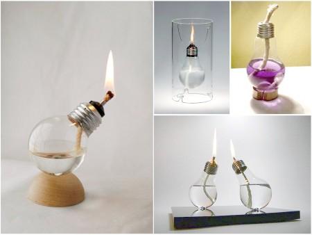 lamparas de aceite con bombillas
