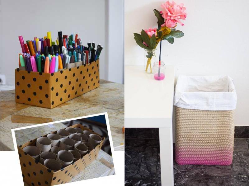 M s de 100 ideas fabulosas de manualidades con cajas de cart n - Como forrar una silla de escritorio ...