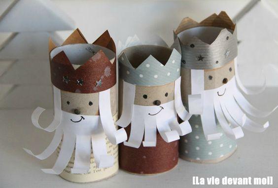 manualidades con carton para navidad reyes magos