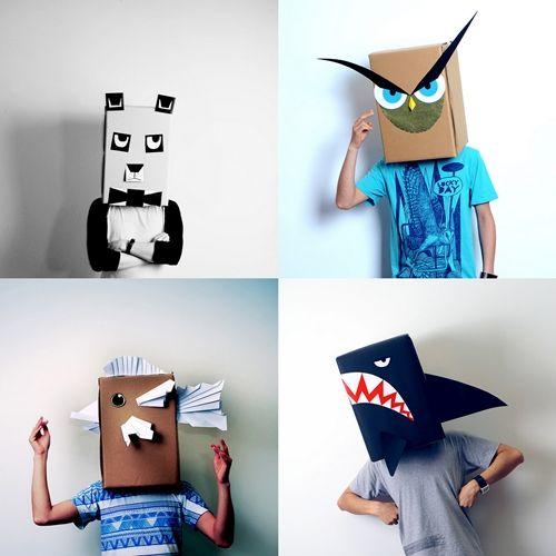 manualidades con carton reciclado mascaras