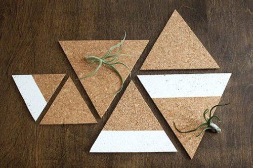 20 sencillas manualidades con corcho en láminas