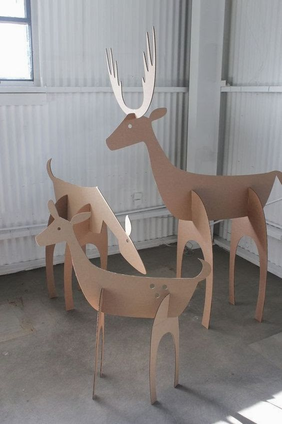 manualidades de cartón para navidad renos
