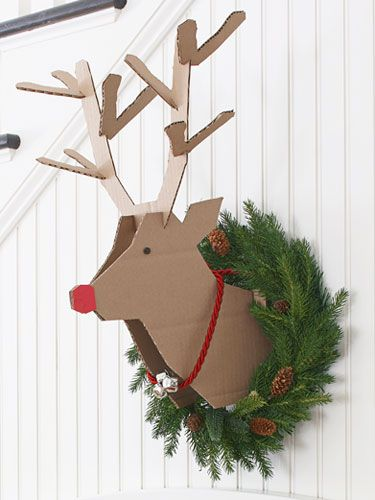 manualidades de carton navideñas