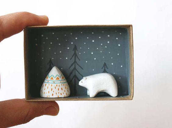 manualidades de navidad con cajas de carton