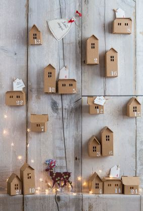 manualidades de navidad con carton calendario
