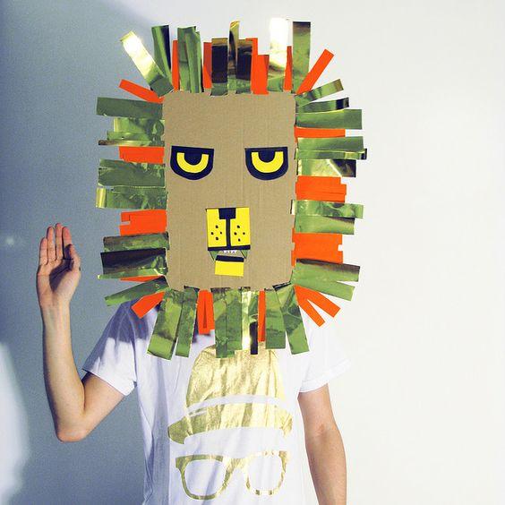 manualidades faciles con carton reciclado mascaras