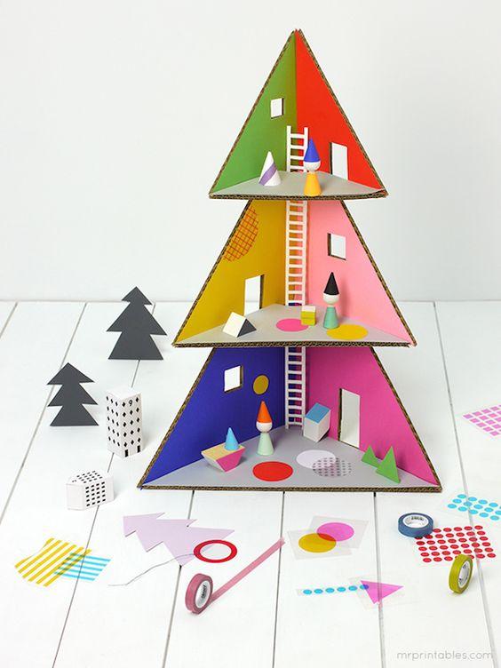 manualidades navideñas con carton reciclado