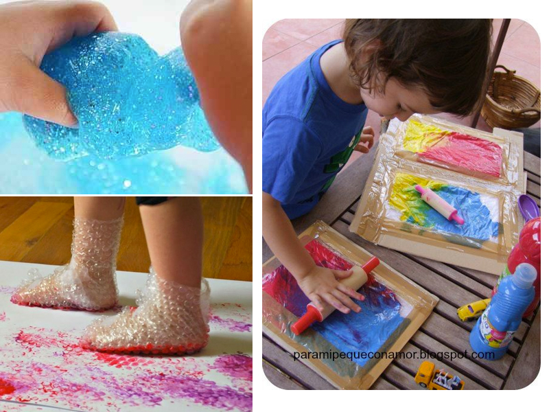 manualidades para niños de dos a tres años experimentos