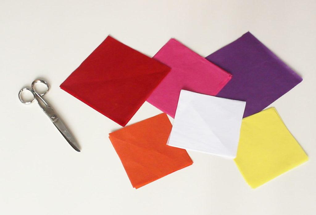 materiales para flores de papel